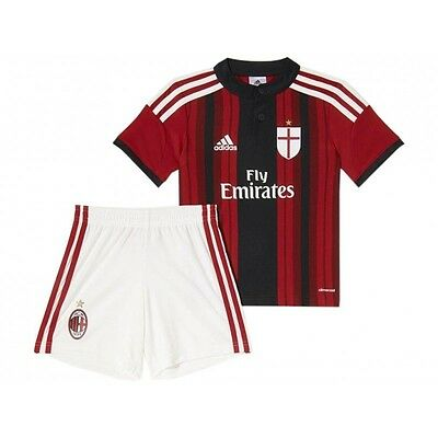 Adidas infants A C Milan football club home kit shirt top shorts brand new