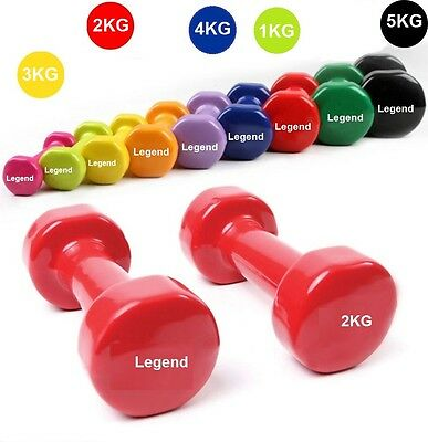 Vinyl Dumbells Set Hand Weights Dumbbells Home Fitness Exercise Ladies/Man