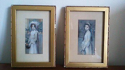 A Pair of 19th Century Decorative Portrait Prints, Eduard Veith