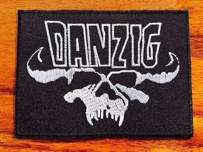 DANZIG Sew Iron On Patch Rock Band Logo Badge