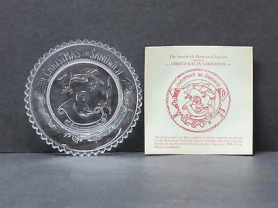Sandwich, Mass. Historical Society Pairpoint Glass Christmas Cup Plate Santa