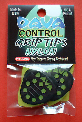 6  Dava Control Grip Tips ,Nylon Guitar Picks