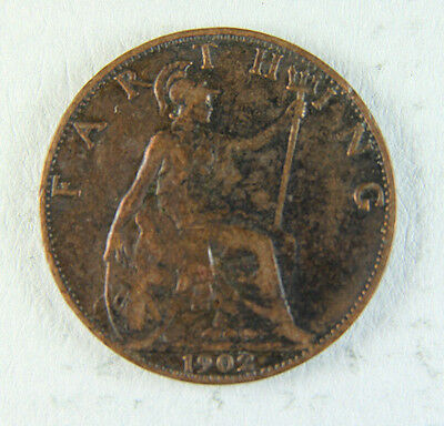 1902 Edward VII Farthing coin; Old album collection!