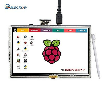 5 Inch Touch Screen HDMI Monitor HD 800x480 TFT LCD Display for Raspberry Pi ...