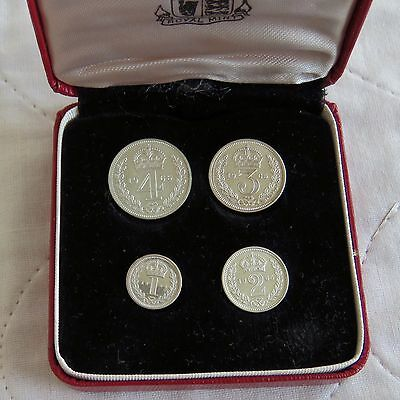 1965 QEII SILVER 4 COIN BOXED MAUNDY SET - mintage 1143 - 52nd birthday