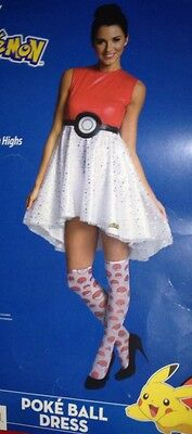 ❤ ADULT POKEMON Party COSTUME *POKEBALL DRESS* woman M medium 8-10 NEW NWT
