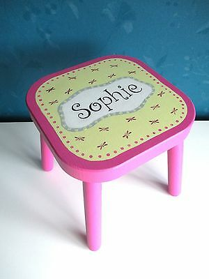 Child's wooden stool - personalised with the name SOPHIE