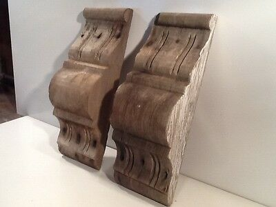 Old Growth Redwood Victorian Gingerbread Lot of 2