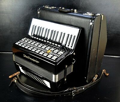 TOP PIANO ACCORDION WELTMEISTER SERINO 96 bass,16sw.(11+5)+ORIGINAL CASE~MUSETTE