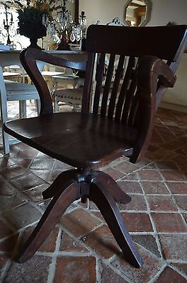 French 1920's/30's office chair