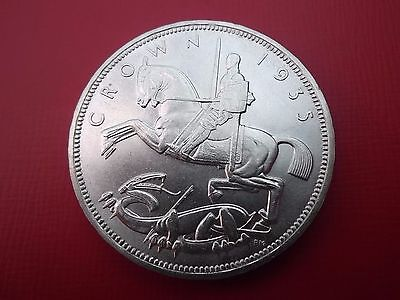 1935 Silver Crown Coin King George V Rocking Horse