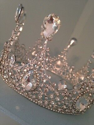 Silver Full Crown .3 Inch Tall . Beauty Pageant Crown. Wedding / Prom /stage