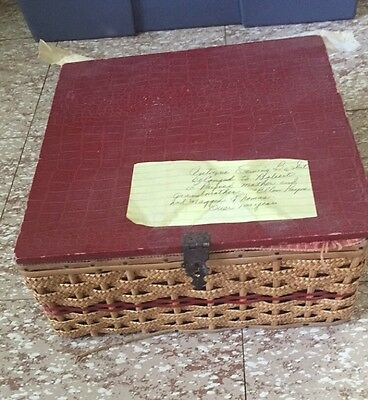 Antique Victorian? Sewing Basket Very Old