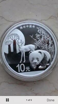 2015 year of the china in south africa panda silver coin