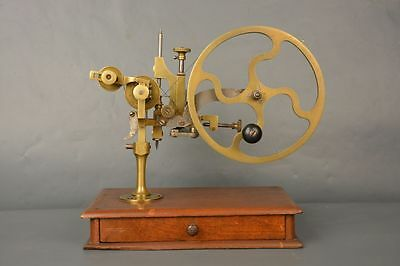 Old Vintage Tool For Watchmakers Lath Lathe