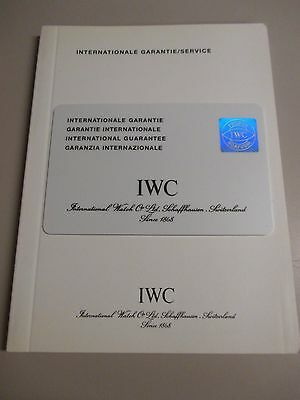 NOS Vintage IWC Watch Open/Blank International Guarantee Card and Services Book