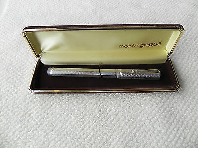 Penna Stilografica Montegrappa Reminiscence Silver 925 Fountain Pen Monte Grappa