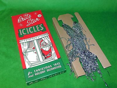 Vintage Brite Star Fireproof Christmas Icicles In Box
