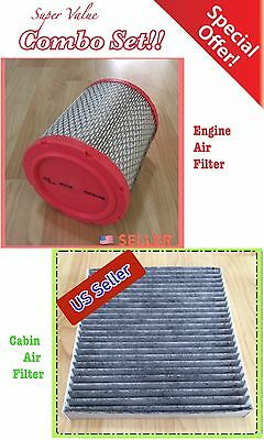 2pc SET! CARBON Cabin+Engine Air Filter For JEEP COMPASS PATRIOT DODGE CALIBER