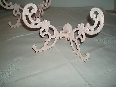 ANTIQUE Victorian Cast Iron Set 4 Large butterfly Hall tree hat coat hook rack