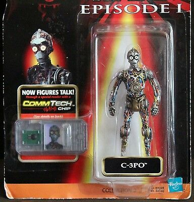 "c1998 Hasbro Star Wars Episode I COMMTECH Chip C-3PO Droid 3.75"" Action Figure"