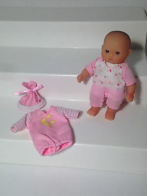Berenguer Baby Doll Mini 4 inches with Extra Outfit
