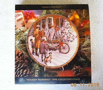 Harley Davidson Christmas 1998 Collector's Plate Family Portrait