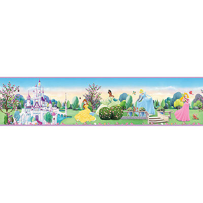 "Disney Princess self-stick wall border removable new in pkg  5""x15'"