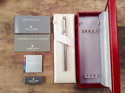 Caran d'Ache Ecridor Type 55 Silver-plated - Rhodium Fountain Pen