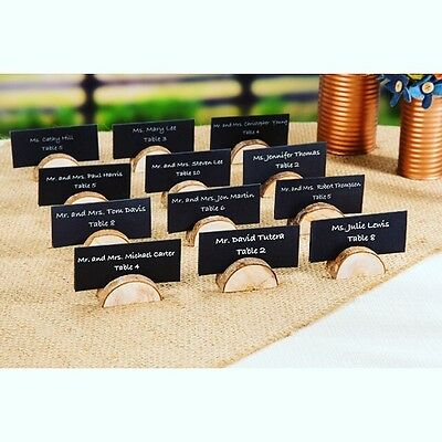 24 pack of rustic wood place card holders wedding decorations