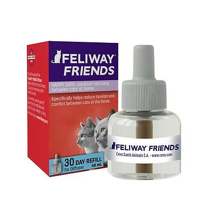 x2(two) Feliway Friends Pheromone Diffuser Refill 30 Days 48ml-Cat Stress Relief