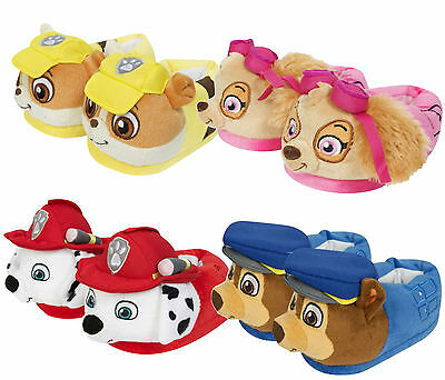 Genuine Kids Novelty Plush 3D Paw Patrol Character Slippers Skye Chase Toy