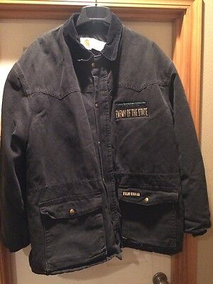 """New Men's """"Enemy Of The State"""" Movie Carhartt Jacket, Black, Size 2XL"""