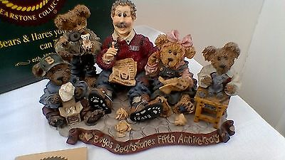 Boyds Bears resin sculpture, Work is Love Made Visible, 5th anniversary Ltd. Ed.