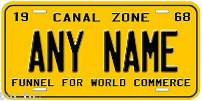 Panama Canal Zone 1968 Any Name Number Novelty Car License Plate