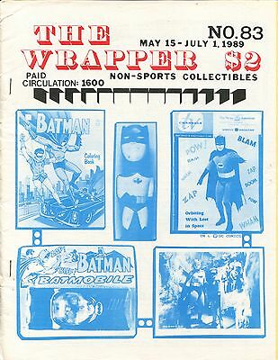 THE WRAPPER No.83  NON-SPORTS CARDS COLLECTIBLES - BATMAN - THE MONKEES - 1989