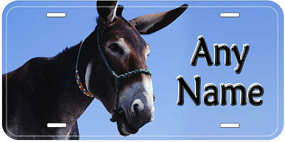 Donkey Personalized Novelty Aluminum Any Name Car Auto License Plate D8