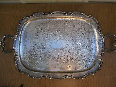 Large Butler Serving Tray Harmony House By Gorham Silver Plate Vintage