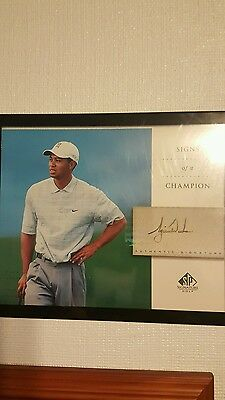 Tiger Woods auto/signed Signs of a Champion 2004 UD authenticated  8x10