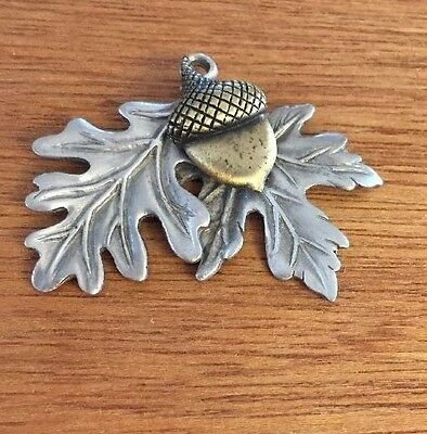 Longaberger 2002 Falling Leaves With Acorn Pewter Tie On