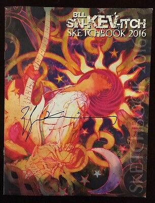 Bill Sienkiewicz 2016 Sdcc Exclusive Sketchbook Rare Signed Jimi Hendrix Cover