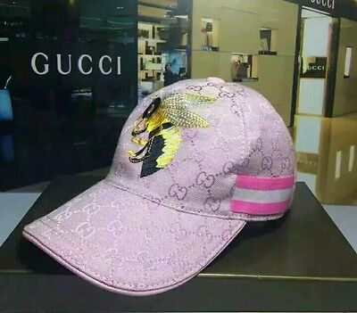 Beige,pink,Black bumble bee with Gucci look stripe cap Very fashionable headware