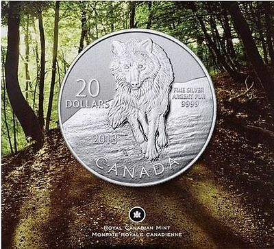 Canada $20 for $20 Fine Silver Coin - Wolf (2013)