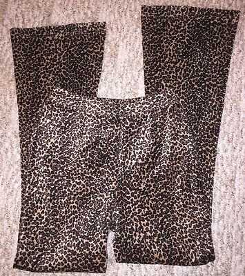 Vintage Girls Pants Made By Limited Too Size 12 Leopard Print Elastic Flare