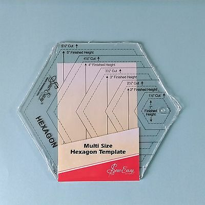 Hexagon Template ~ Multi Size ~ Patchwork / Quilting