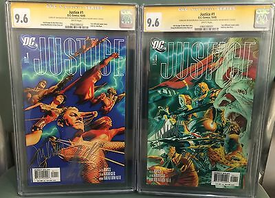 Justice #1-12 Cgc Ss 9.6  9.8 Complete Set Signed Alex Ross Jim Krueger 14 Books