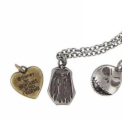 Disney The Nightmare Before Christmas Interchangeable Multi Charm Necklace NWT!