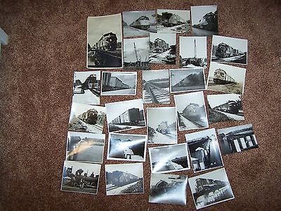 Lot Of Vintage Train Locomotive Pictures Railroad Trains memorabilia collection