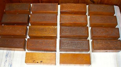 18 Wheeler & Wilson Sewing Machine Attachment Boxes, Many Original ATTACHMENTS!!