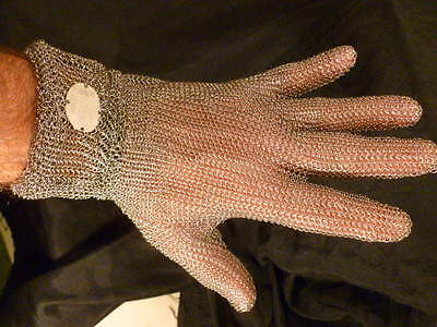 Whizard Stainless Steel Metal Mesh Chain Mail Glove Steampunk Prop Cut Resistant